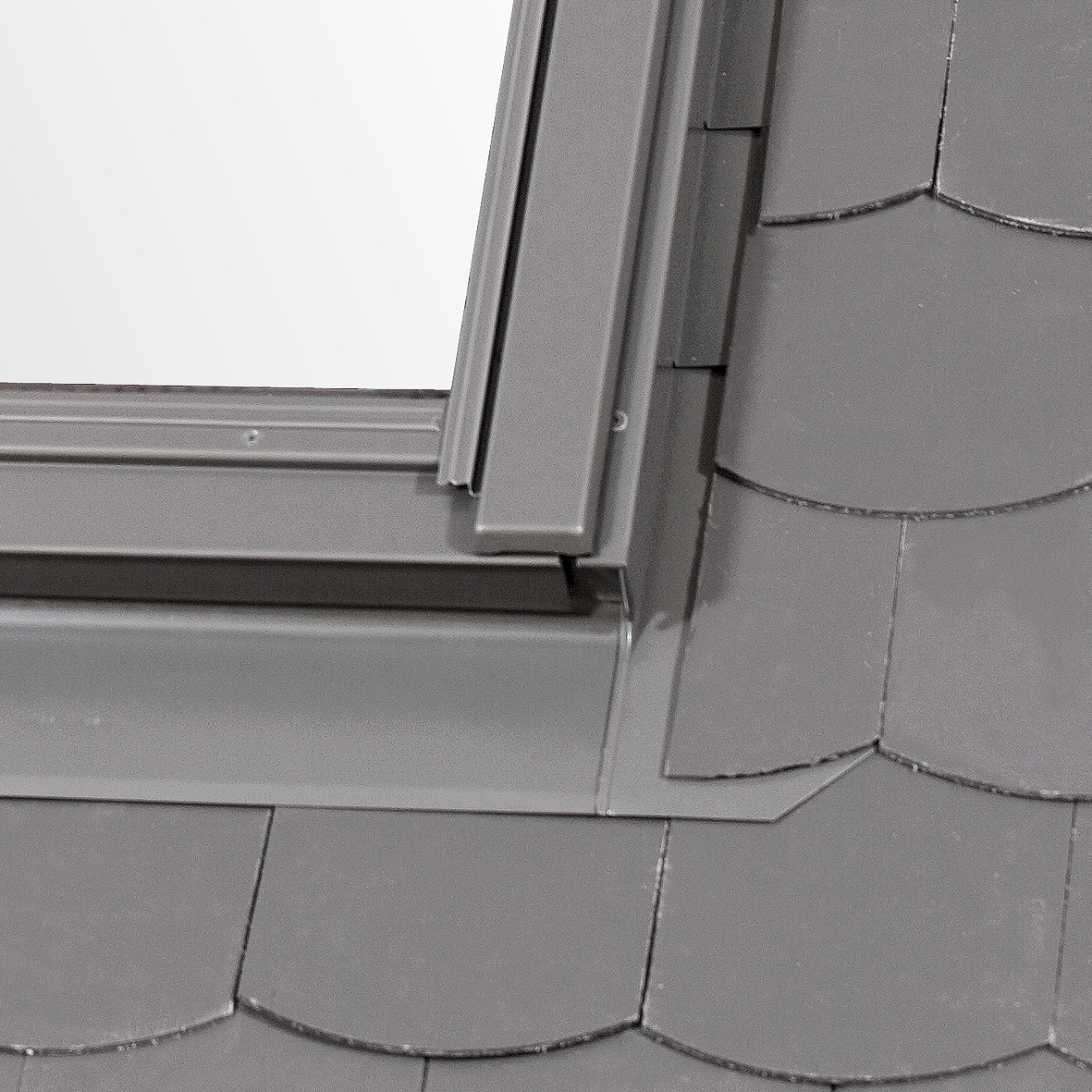 Slate flashing to protect from leaks