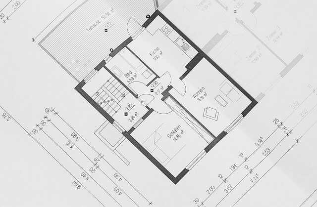 A house floor plan