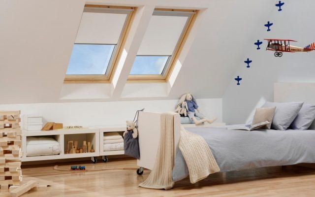 Childrens attic bedroom