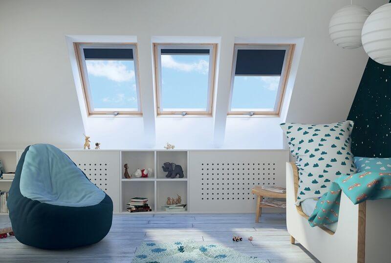 Children's attic bedroom