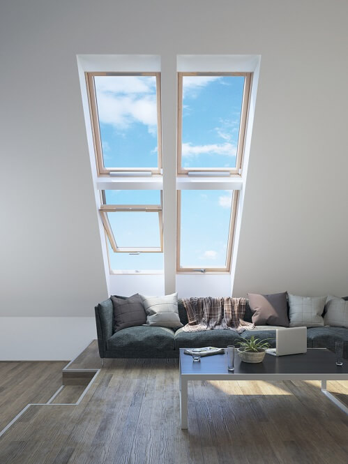 Multiple smaller rooflights
