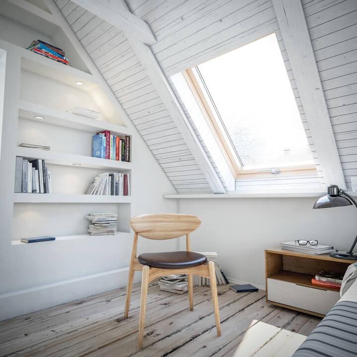 Single large sized roof window