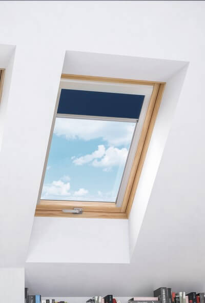 Blind to cool attic room