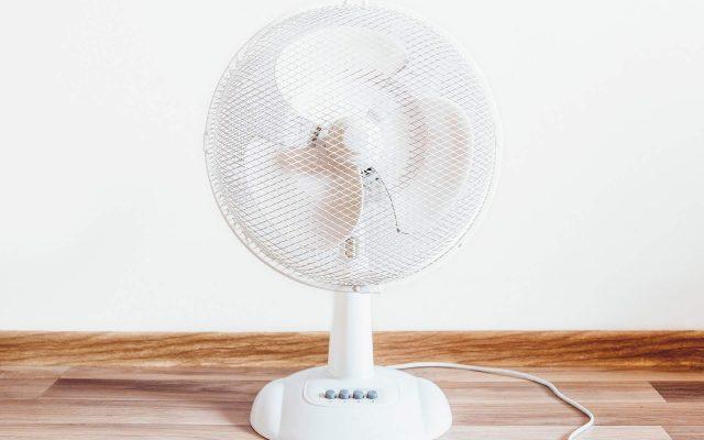 A fan cooling an attic room