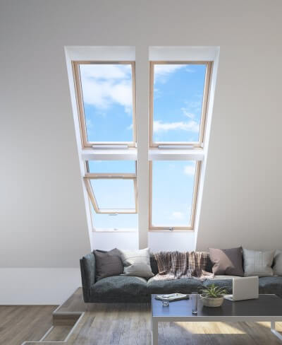 Open window to cool attic
